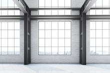 Empty Factory Office Interior