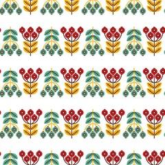Folk seamless pattern in scandinavian style