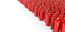 Many Fire Extinguishers On A W...