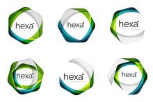 Hexagon Vector Logo Icon Templ...