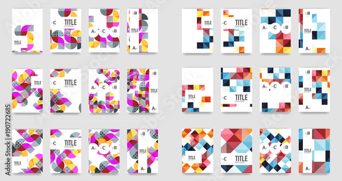 Photo Set of a4 minimal geometric print templates