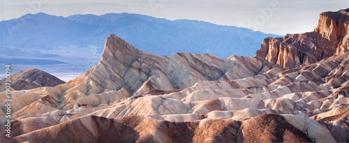 Classic view of Zabriskie Point, Death Valley Wallpaper Mural
