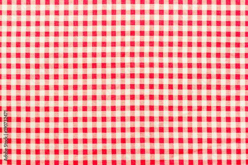 Poster Stof tissu Vichy à petits carreaux rouges