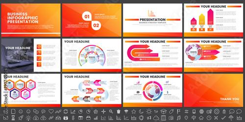 Fototapeta Modern Elements of infographics for presentations templates for banner obraz