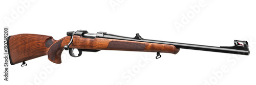 Fotografie, Obraz wooden hunting rifle isolated on white