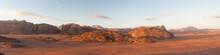 Panoramic View Of Wadi Rum Des...