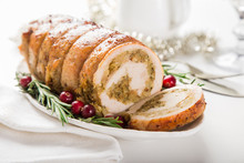 Stuffed Turkey Breast Roll. Wh...