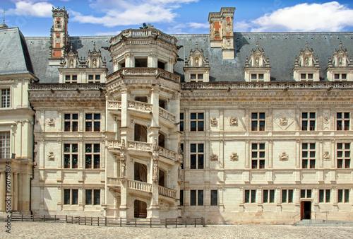 Papiers peints Con. ancienne Blois. Château, aile François 1er, Loir et Cher, Centre Val de Loire, France