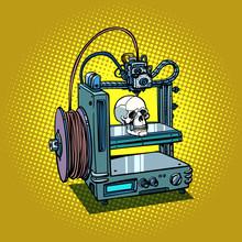 Human Skull 3D Printer Manufacturing