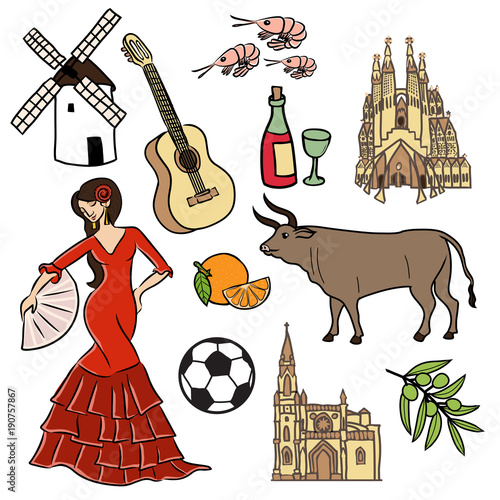 Photo  Symbols and sign of Spain