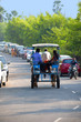 People travelling on horsecart, Mumbai