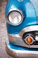 Front Of Old Blue Chevrolet, Havana, Cuba
