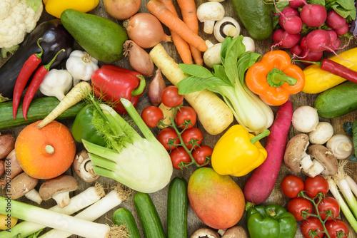 Fotobehang Biogemüse vom Bauernmarkt