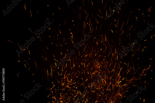 Aluminium Prints Firewood texture Beautiful lights during the night. The background is pretty