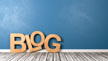 Blog Text On Wooden Floor Against Wall