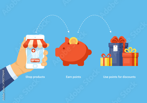 Shopping online and earn points