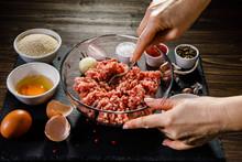 Woman Making Meatballs