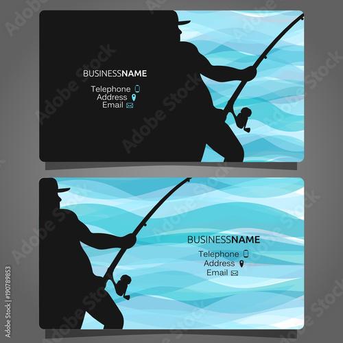 Fotografie, Obraz  Shop fishing business card