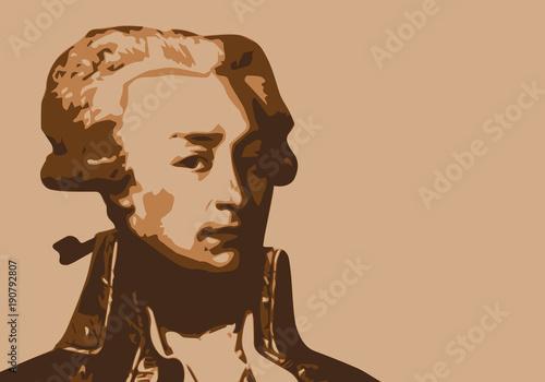 Tableau sur Toile Lafayette - États Unis - portrait - indépendance - Amérique - personnage histori
