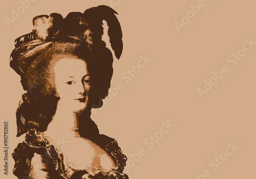 Marie Antoinette - reine - révolution - portrait - révolutionnaire - personnage Canvas Print