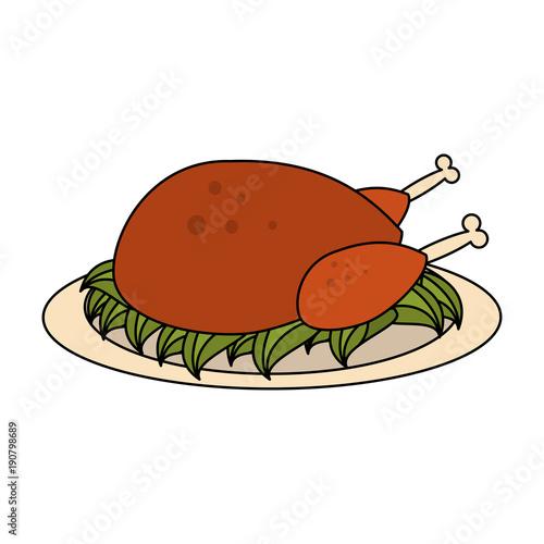 Roast Chicken Food Icon Vector Illustration Graphic Design Buy