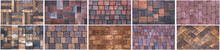 Collage Sample Of Concrete Pav...