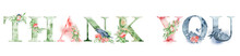 Thank You Watercolor Words Des...