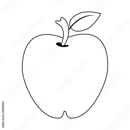 Apple Fruit Symbol Icon Vector Illustration Graphic Design Buy