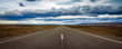 canvas print picture - Straight and endless road in Patagonia, Argentina