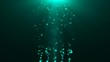 Abstract background with flickering Underwater bubbles. Seamless loop