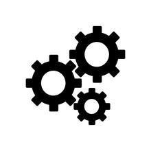 Gears On A White Background. V...