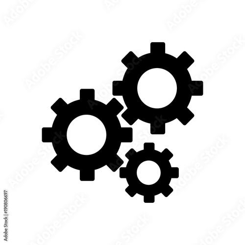 Gears on a white background Canvas Print