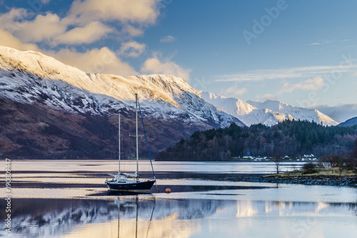 Loch Leven and Glencoe Village Canvas Print