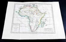 Carte Géographique Ancienne D'Afrique, Datée De 1785, Provenant D'un Ancien Atlas