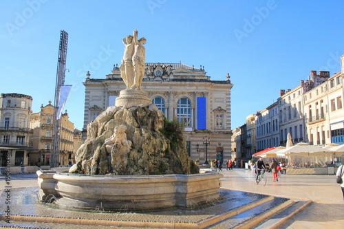 Place de la Comédie à Montpellier, Hérault, Occitanie, France