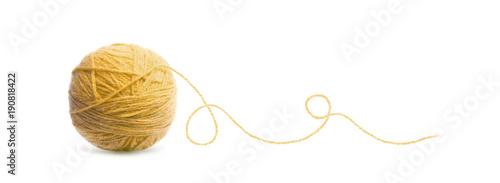 Fotografia, Obraz Blue ball of Threads wool yarn