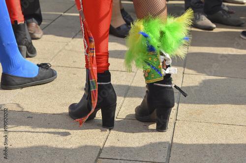 In de dag Rio de Janeiro The female feet with heels