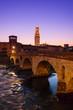 Verona - Pietra bridge at night