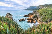 West Coast Of New Zealand's South Island Near Hokitika.