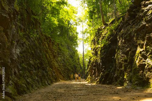 Obraz na plátne Old railway at Hellfire pass Kanchanaburi ,Thailand