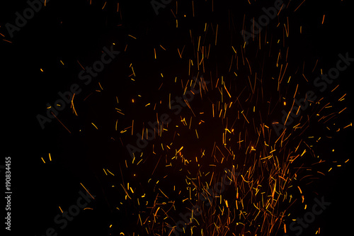 Photo Stands Firewood texture Beautiful lights during the night. The background is pretty