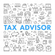 Vector line web concept for tax advisor