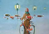 mglisty poranek surrealizmu w życiu marzyciela farby akrylowej - 190854253