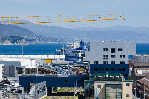 Ship in the port of Savona