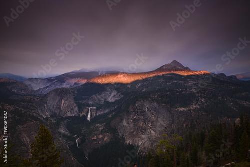 Ring of fire over Yosemite national park Wallpaper Mural