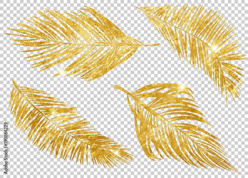 zlote-tropikalne-liscie-na-przezroczystym-tle-pozdrowienia-tapety-ulotki-i-banery-koncepcja-dzungli-kolorowy-realistyczny-styl-ilustracji-wektorowych-eps-10