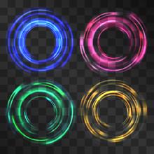 Glowing Festive Swirl Effect, ...