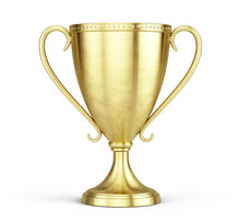 Gold Trophy Cup Isolated On A ...