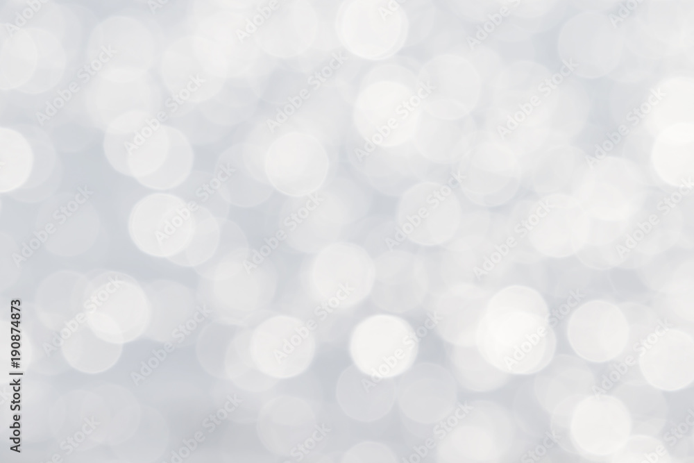Fototapeta Soft de-focused shiny white bokeh abstract background