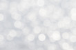 canvas print picture - Soft de-focused shiny white bokeh abstract background